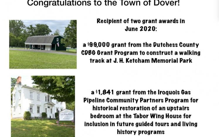 Town of Dover Receives Recreation and Historic Preservation Grants