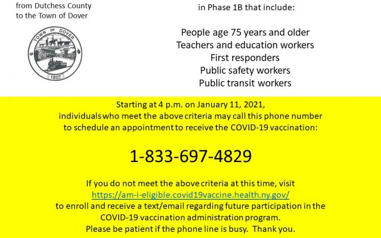 COVID-19 Vaccination Outreach for Individuals in Phase 1B
