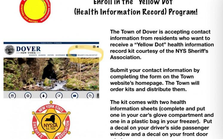 Request a Yellow Dot (Medical Information) Kit